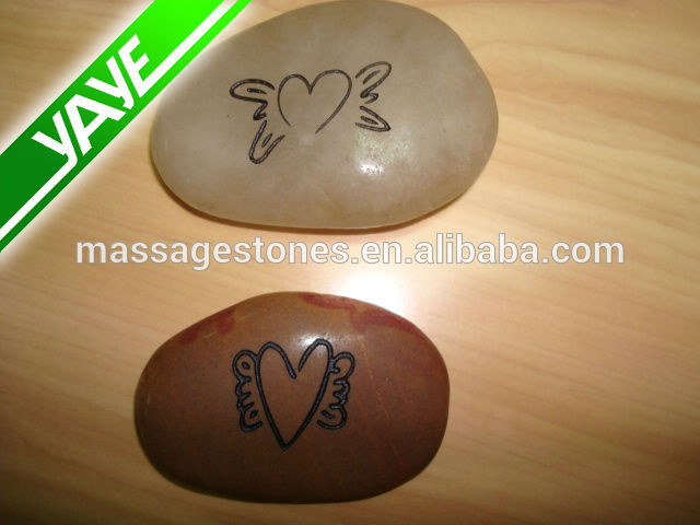 Engraved river rock stones craving gratitude letter rocks