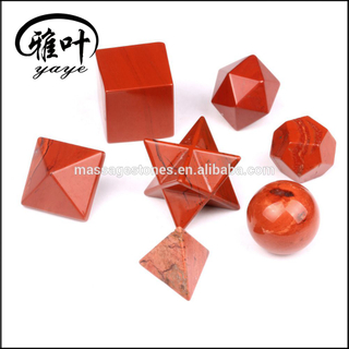 Red Jasper Sacred Geometry 7 Piece Set & Platonic Solids