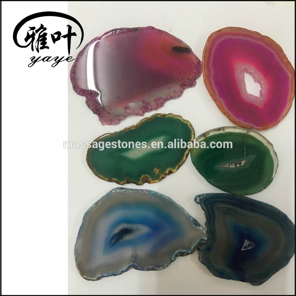 Cheap Polished Natural Agate Stones Slices