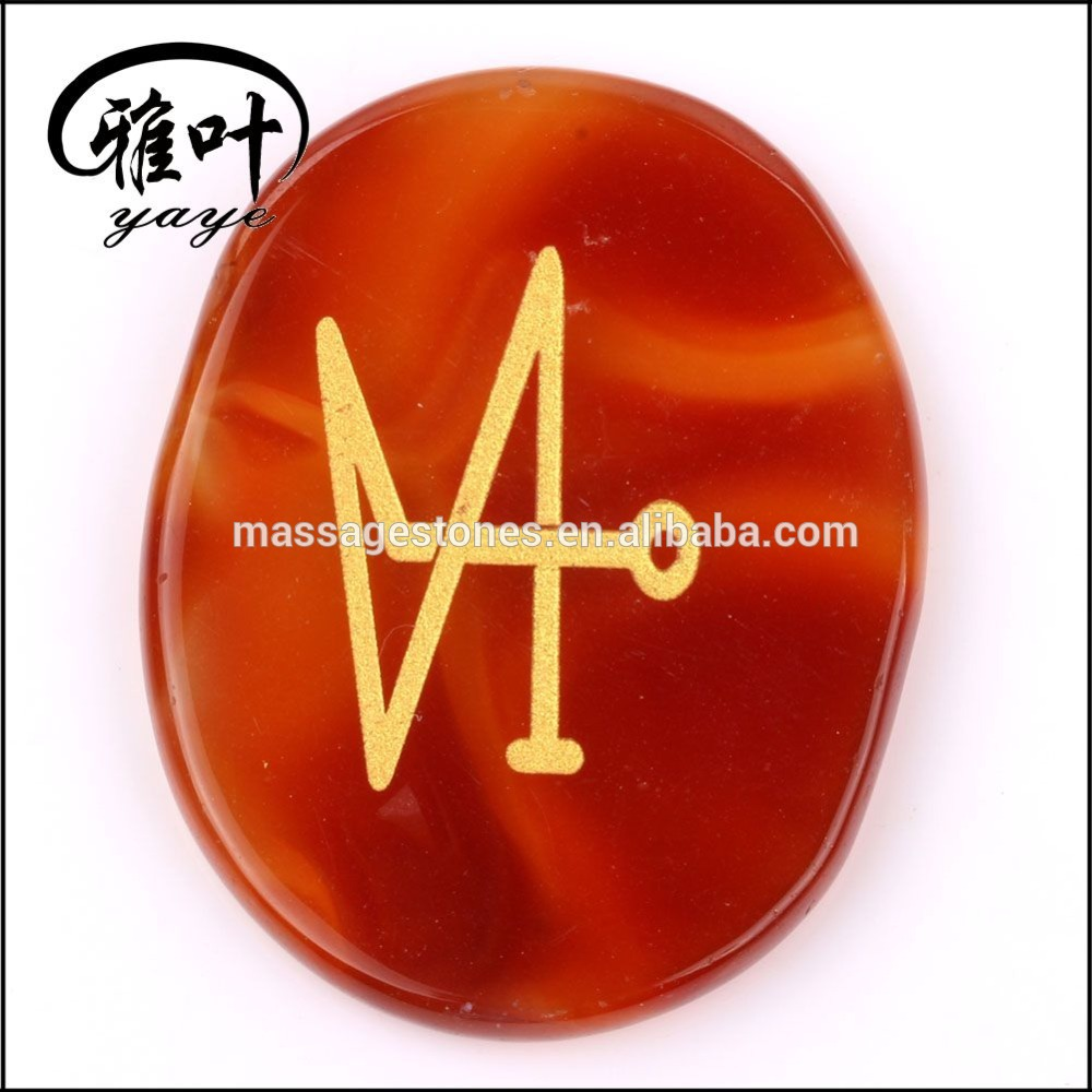 Wholesale Healing engraved inspirational stones Engraved Reiki Palm Stone Sets