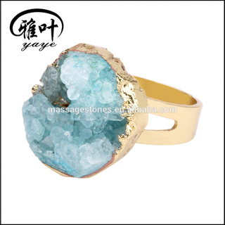Wholesale Natural Large Blue Geode Rings Geode for Sale