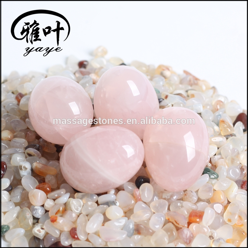 Natural Rose Quartz Gemstones Kegel Crystal Eggs
