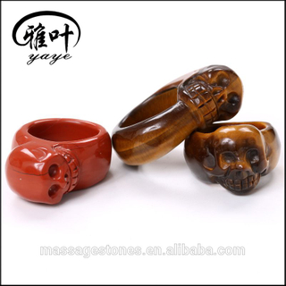 Wholesale gemstones individual ring rock n roll style skull ring gifts