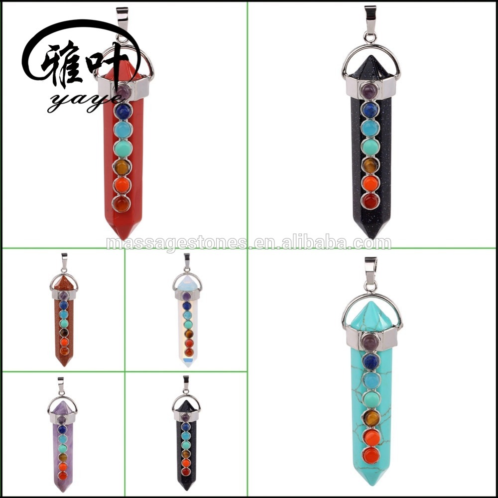 Wholesale Healing Crystal Point Pendants for gifts