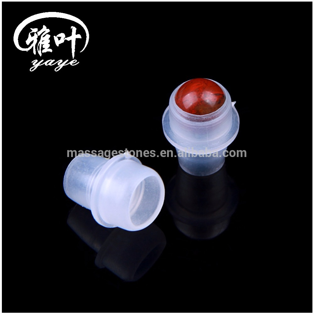 Wholesale Gemstone Roller Balls Top Essential Oil Glass Bottle Roller Balls