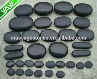Basalt hot massage stone kit with 20 stones a set