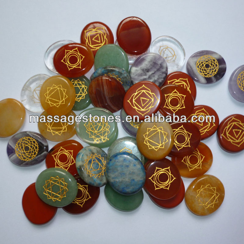Wholesale inspiration stones Engraved semi precious gemstone