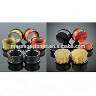 Flared Saddle Plugs Stretching Expanders Natural Stone Ear Plugs