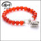 Wholesale 8mm Natural Carnelian Beads with heart Bracelet