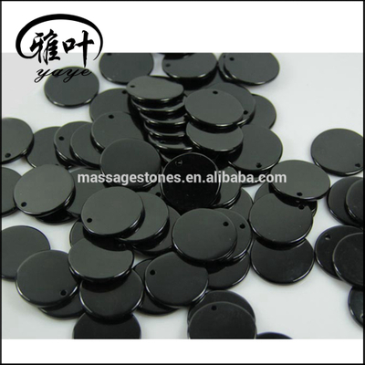 Wholesale Drilled Round Gems Stones Black Obsidian