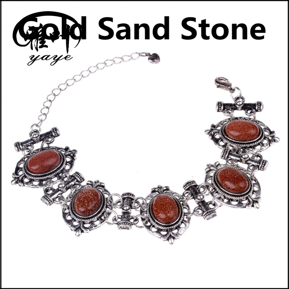 Wholesale Natural Gemstone Cabochon Jewelry Bracelet