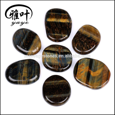 Natural Semi-precious Stones Tiger Iron Stones Flat Polished Stones for Sale