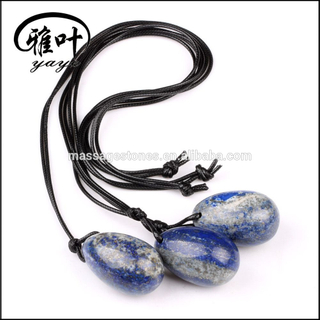 Bulk Lapis Lazuli Drilled Yoni Egg for Kegel Exercise