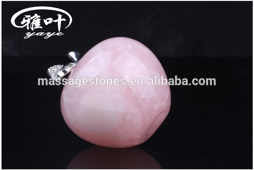 Natural Rose Quartz Crystal Crafts Stone Apple/Christmas Apple Gifts/Gems Stones Apple