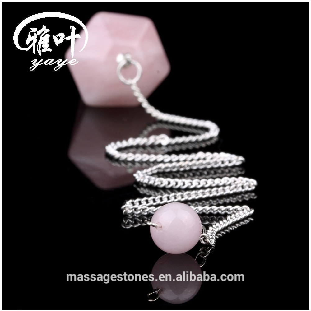 Rose Quartz Stones Dowsing Pendulum/Crystals Pendulums for sale