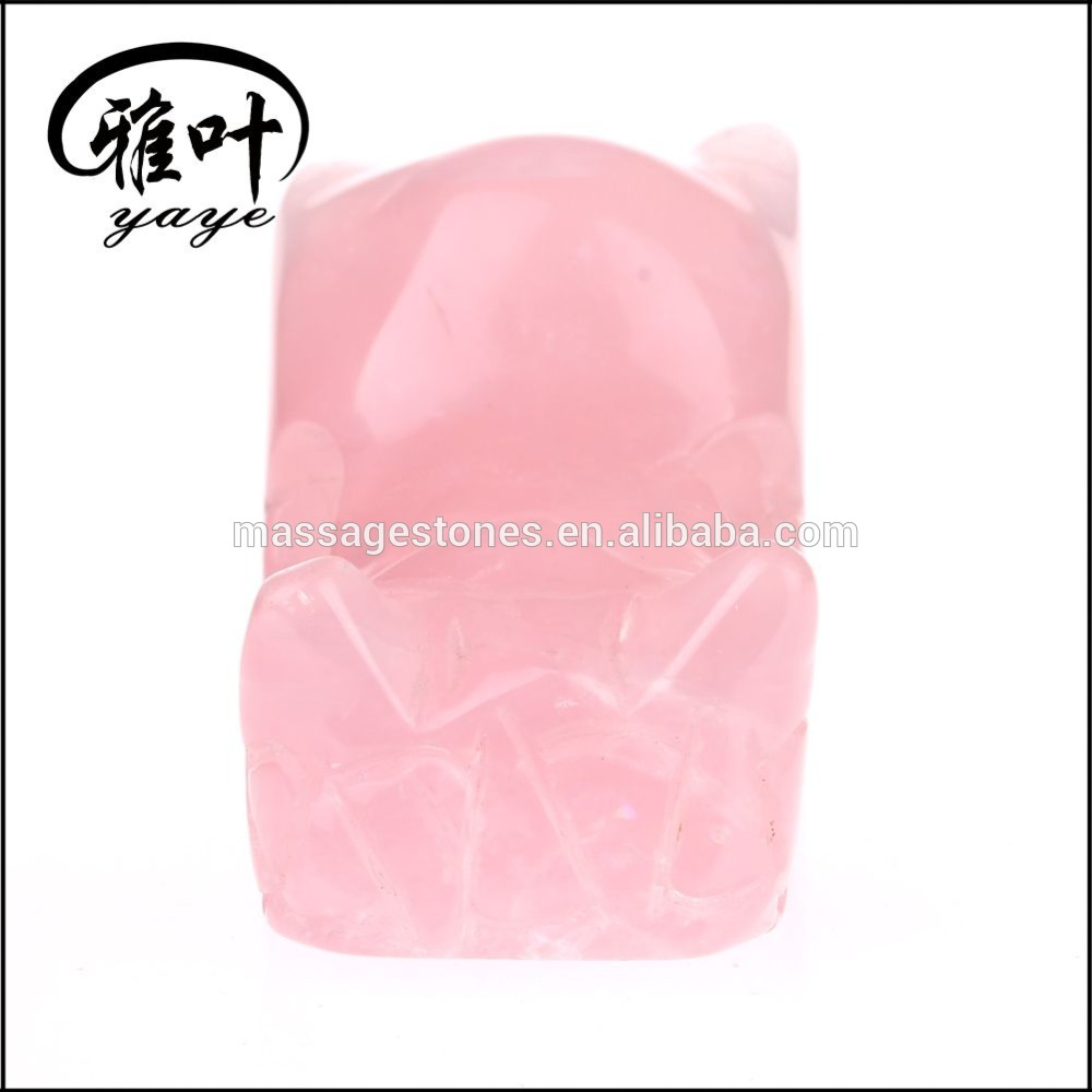 Wholesale Natural Rose Quartz Dragon Carving