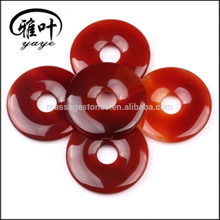 Wholesale Fashion Carnelian Donut Gemstone Donut Pendants Jewelry