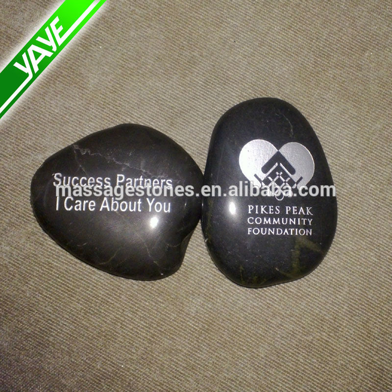2 inch Engraved river stone crafts