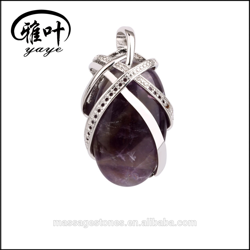 Natural Gems Stones Amethyst Jewlery Pendants&Necklace