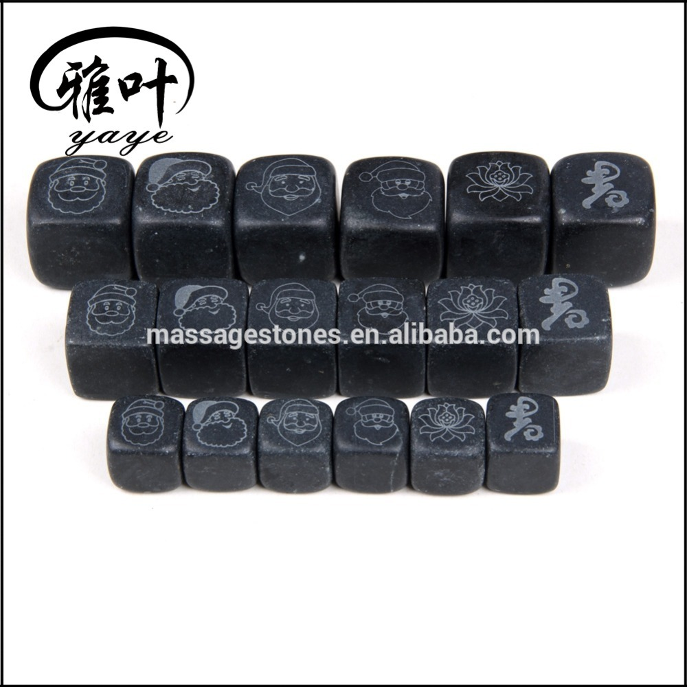 Wholesale Engraved Logo Whisky Stone FDA Certificated Marble Ice Cube