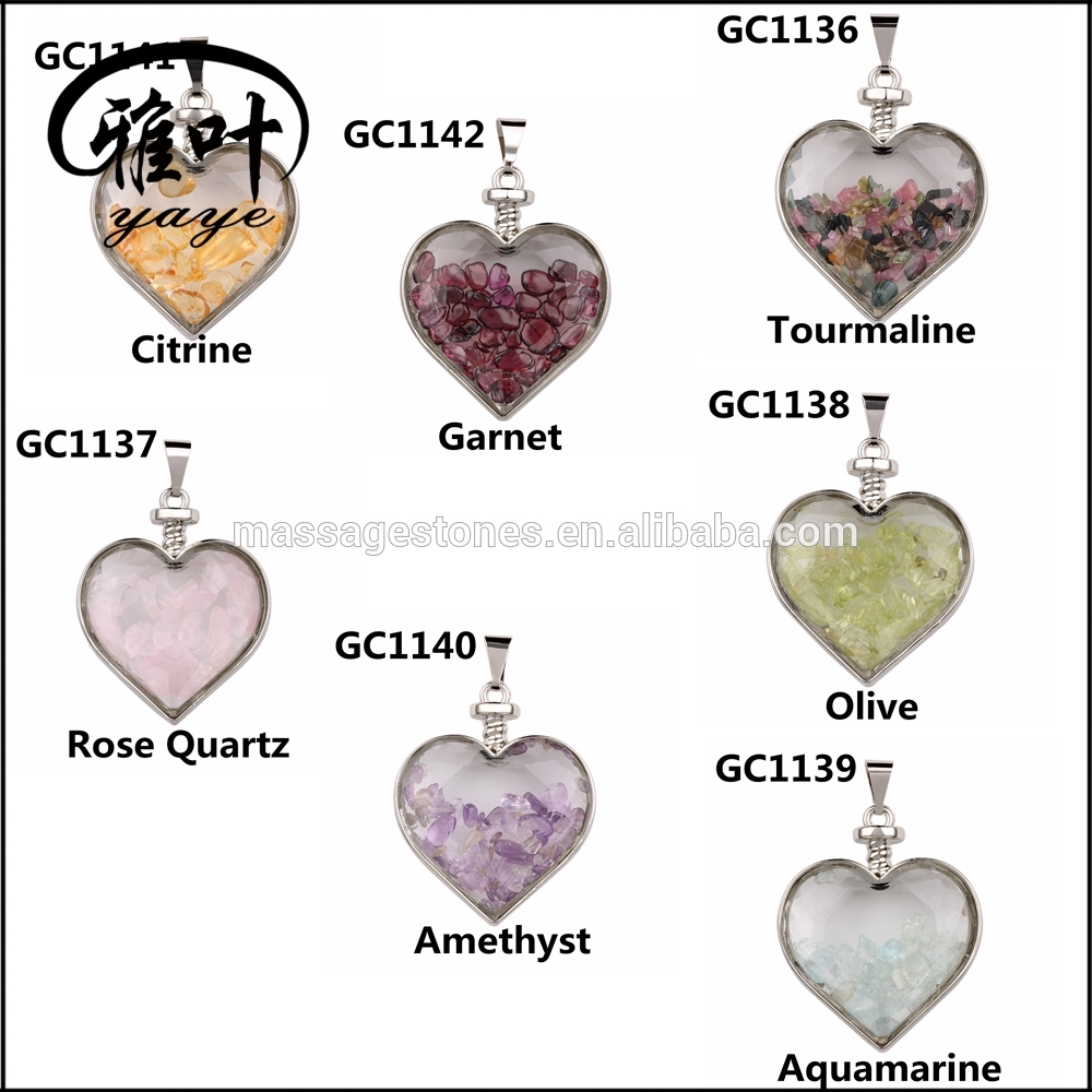 Natural Chip Crystals Stones Charms Apple Pendants as Christmas Gifts