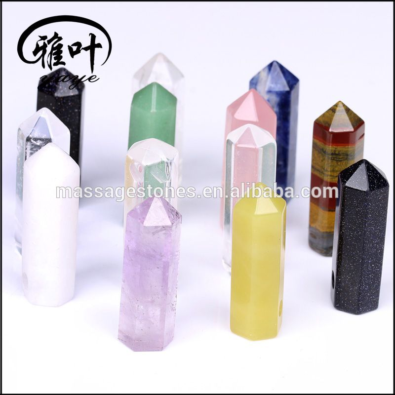 Wholesale Assorted Hexagon Prism Point Pendant