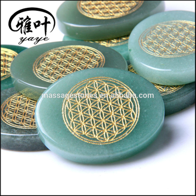 Sacred Geometry flower of life engraved stone for creation