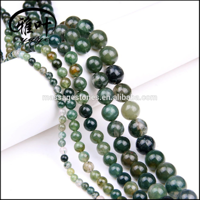4-12mm Natural Moss Agate Loose Gemstones Beads Landing Wholesale
