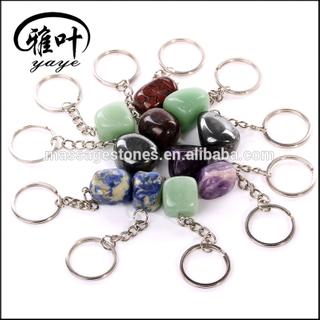 Colorful Tumbled Stone Keychains