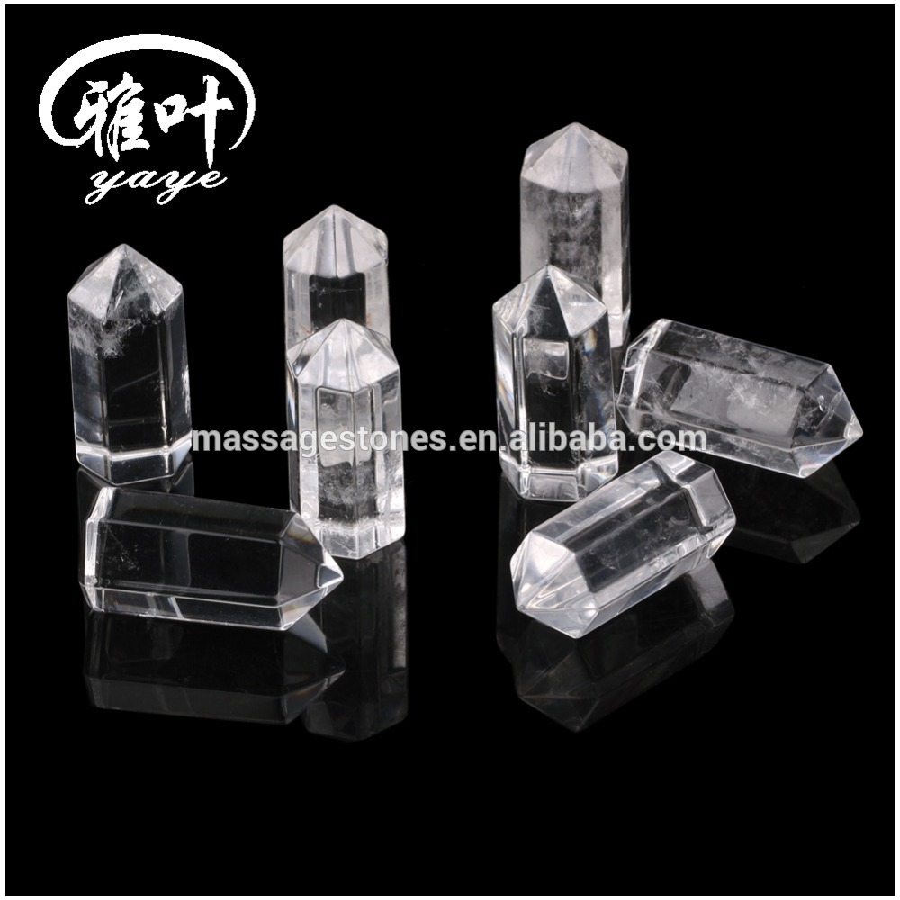 35*15mm Wholesale Crystal Quartz Helaing Wands 6sided Crystal Points