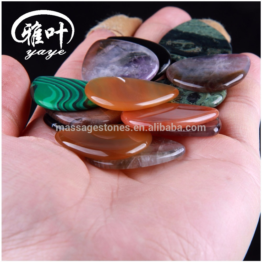 Wholesale Semi-Precious Stone Agate Blank Guitar Picks Unique Gemstone Guitar Picks