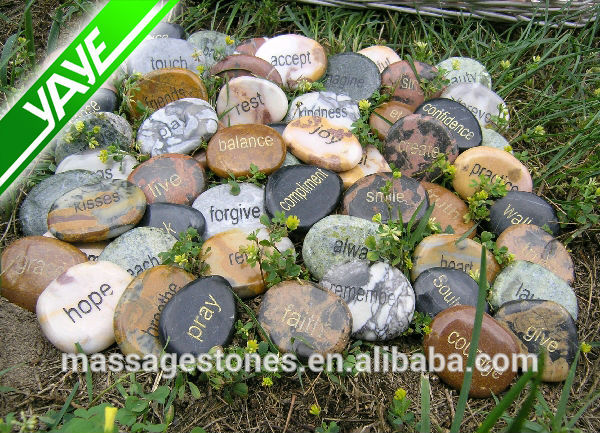 Beautiful engraved stones word stones with inspirational words