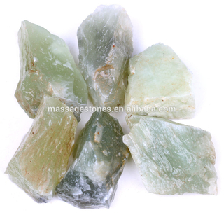 Natural Green Jade Fine Rough Stone For Gifts Wholesale