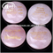 Engraved Natural Rose Crystal Quartz Words Round Palm Stone