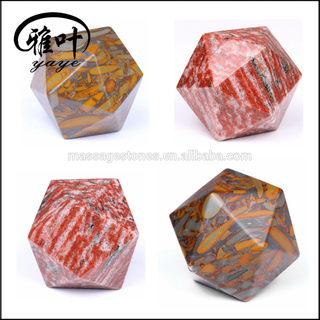 Wholesale Platonic Solids Gemstone Set /Icosahedron Marble Stones as Gift