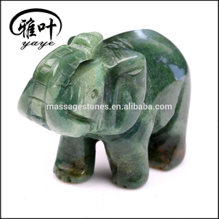 Wholesale Natural semi Precious Stone Indian Aagte Handcrafts Elephant Carving