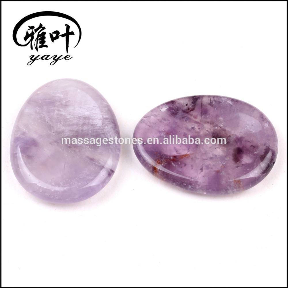 WHOLESALE AMETHYST WORRY STONES GEMSTONE ENGRAVED WORRY STONES