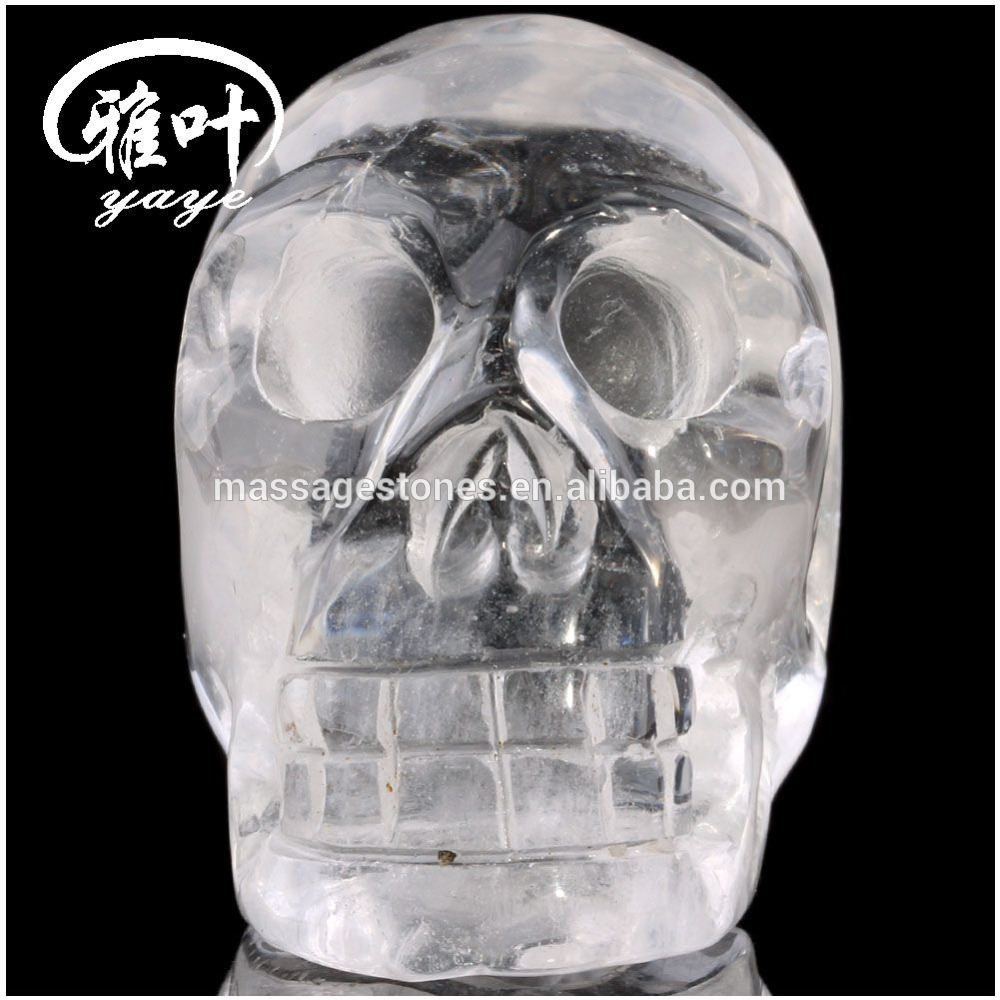 "2"" high quality crystal skulls hand carved clear quartz skull statues"