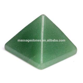 Wholesale engraved healing Green Aventurine Pyramids