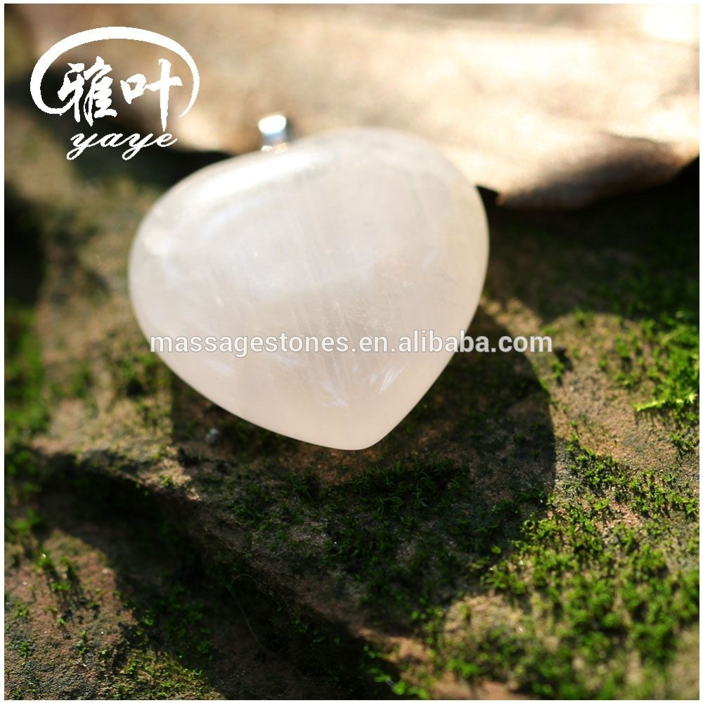 2016 fashional Natural Rose Quartz Small Heart shape Pendant