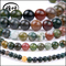 Wholesale High Quality Natural Gemstones Beads Landing Jewelry Making Stones Highly Polished Indian Agate Beads Loose