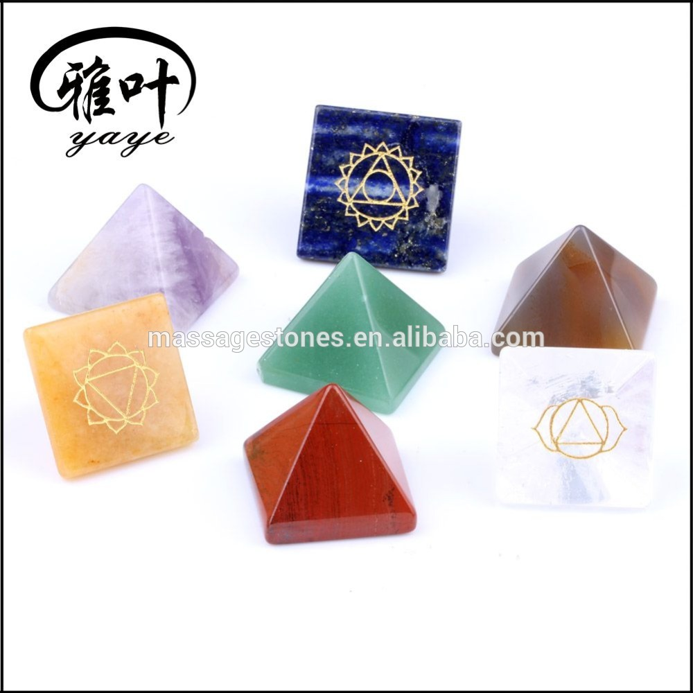 Wholesale 7 Chakra Gemstone Crystal Pyramid