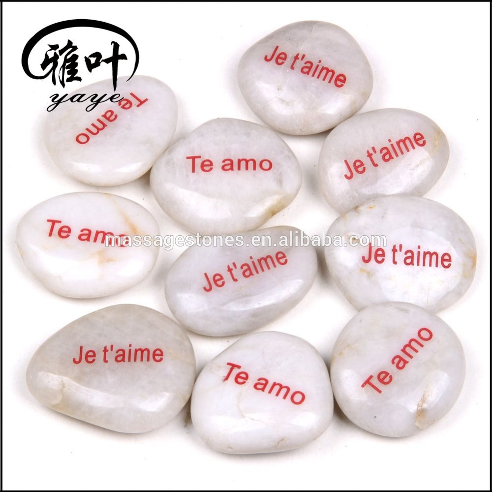 Engraved letter River Stone Natural Message Stone Wholesale