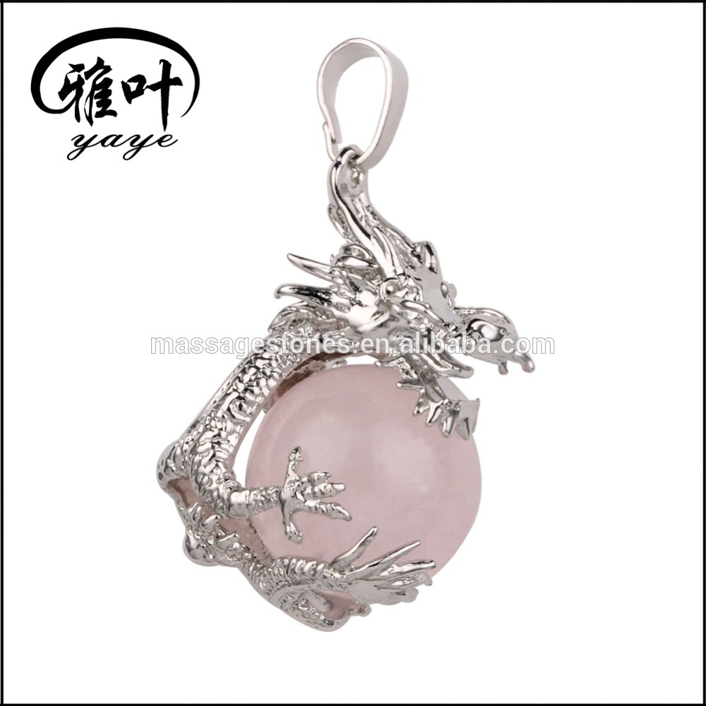 Wholesale Rose Quartz Dragon Balls Pendants