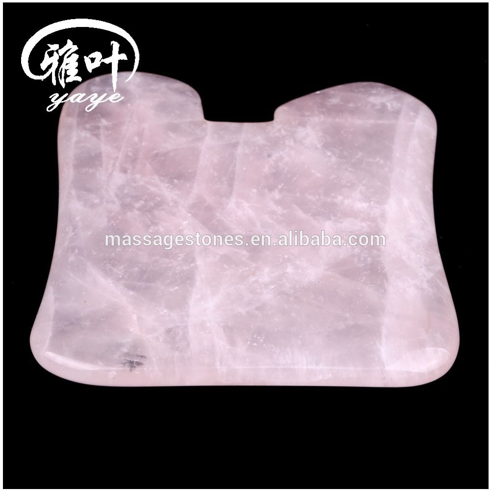 Natural Crystal Quartz Scraping Massage Gua Sha Tool For Chinese Gua Sha