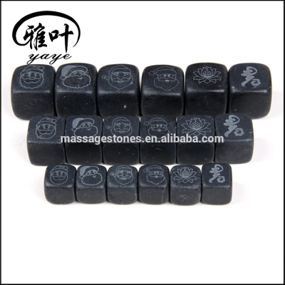 Customized Sized Black Whisky Ice Cube Stones