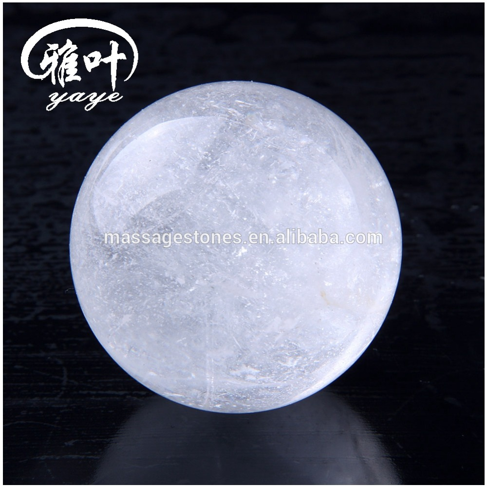 Bulk wholesale 25mm carved clear quartz crystal ball