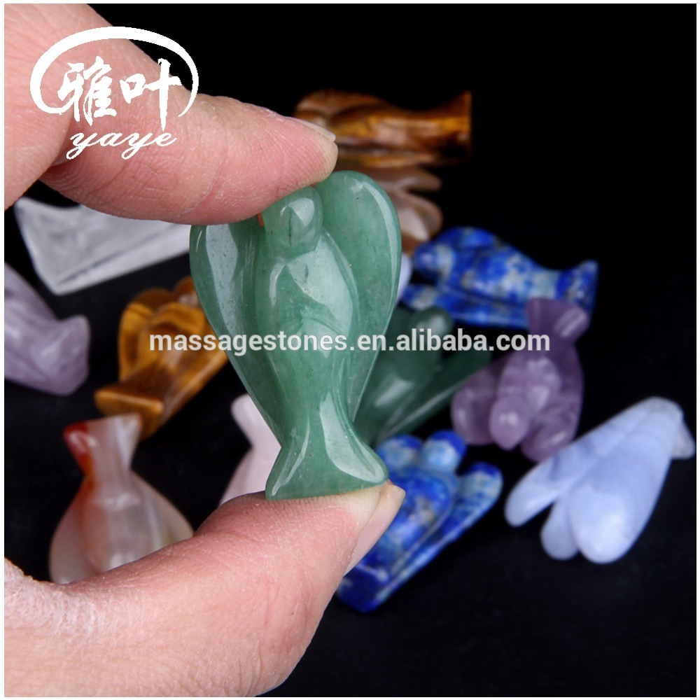 Wholesale Green aventurine merry angels for weeding gifts
