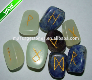 Wholesale mixed gems tumbled rune stone for gifts