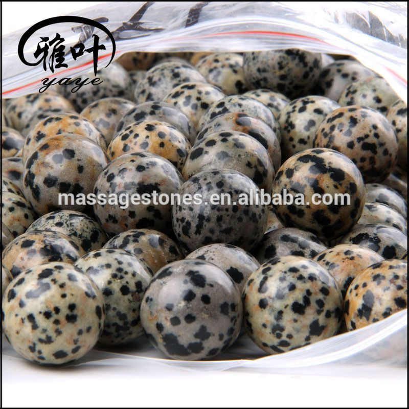 Bulk Wholesale Natural Dalmation Jasper Round Sphere Ball